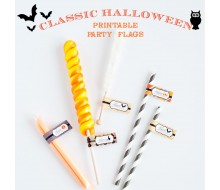 Classic Halloween Design Kit - Printable Party Flags - Instant Download